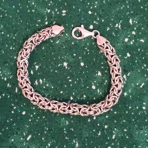 """Sterling Silver Byzantine 7"""" bracelet"""